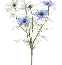 Nigella (Persian jewel) x6 , 4 bloemen & 2 knoppen, 15 sets met blaadjes, 66cm