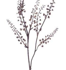 "Rama de bayas ""Dried Nature"",  con 8 grupos de bayas, 68cm - precio especial"