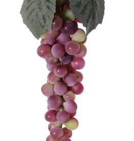 Racimo de uvas con 90 uvas, 2 hojas, 28 cm
