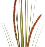Grasbusch blühend (Cattail), 2 Blüten, 22 Blätter, PVC, 90cm