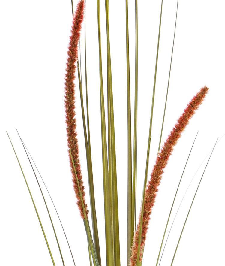 Grass bush flowering (Cattail), 2 flowers, 22 leaves, PVC, 90cm