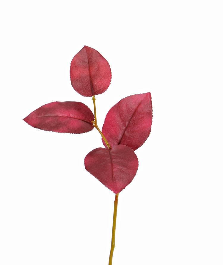 Apfelblattzweig, kurz, 4 Blätter, 35cm