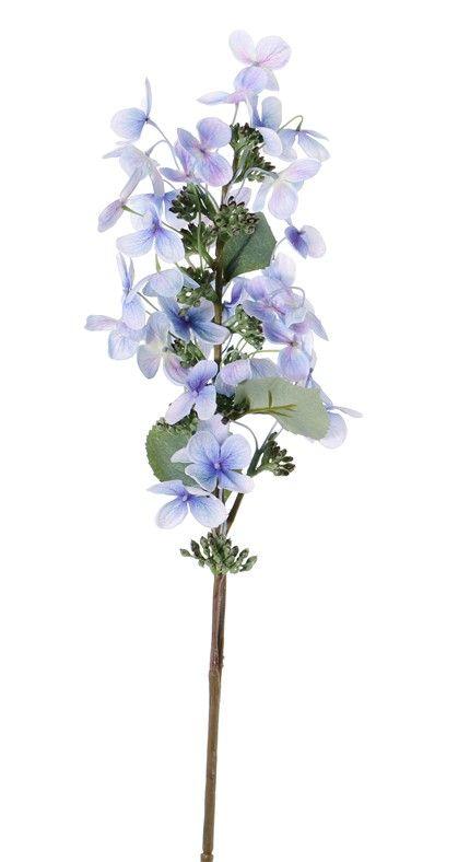 "Hydrangea paniculata (Pluimhortensia) ""Top Art 60!"" Ø 14cm & 36 petals & 3 blad & 16 plstic knop, 75cm"