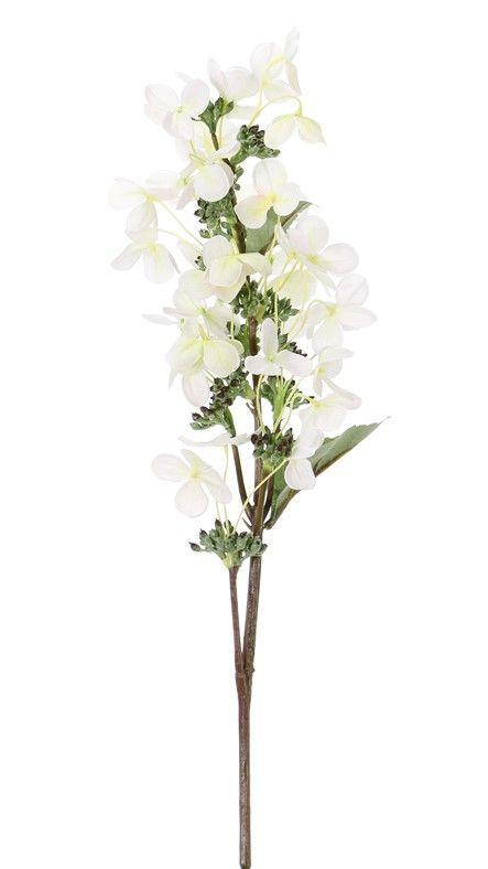 "Hydrangea paniculata ""Top Art 60!"" Ø 14 cm and 36 petals & 3 leaves & 16 plstic bud, 75 cm"