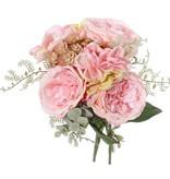 "Mix bouquet ""Fresh Art"" with rose / hydrangea / echeveria, ø25cm, h25cm"