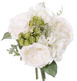 """Mix Bouquet """"Fresh Art"""" mit Rose / Hortensie / Echeveria, ø25cm, h25cm"""
