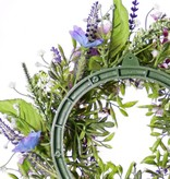 Krans fritillaria/lathyrus/lavendel mix, Ø 15cm, Ø 35cm - speciale prijs
