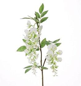 """Glicinas """"de luxe"""", 2 flores (30cm/15cm), 29 hojas, 105cm"""