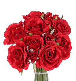 Rosenbouquet 'Royal', 13 Rosen (9 große Ø 8cm & 4 kleine Ø 3 cm), mit Band, 25cm