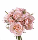 Rose bouquet 'Royal', 9 roses (5x medium Ø 6cm & 4x small Ø 3cm), with ribbon, 20cm