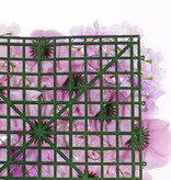 Bloemenwand element 'Honeymoon', dahlia x4, pieonroos x8 & hydrangea (33x33cm)