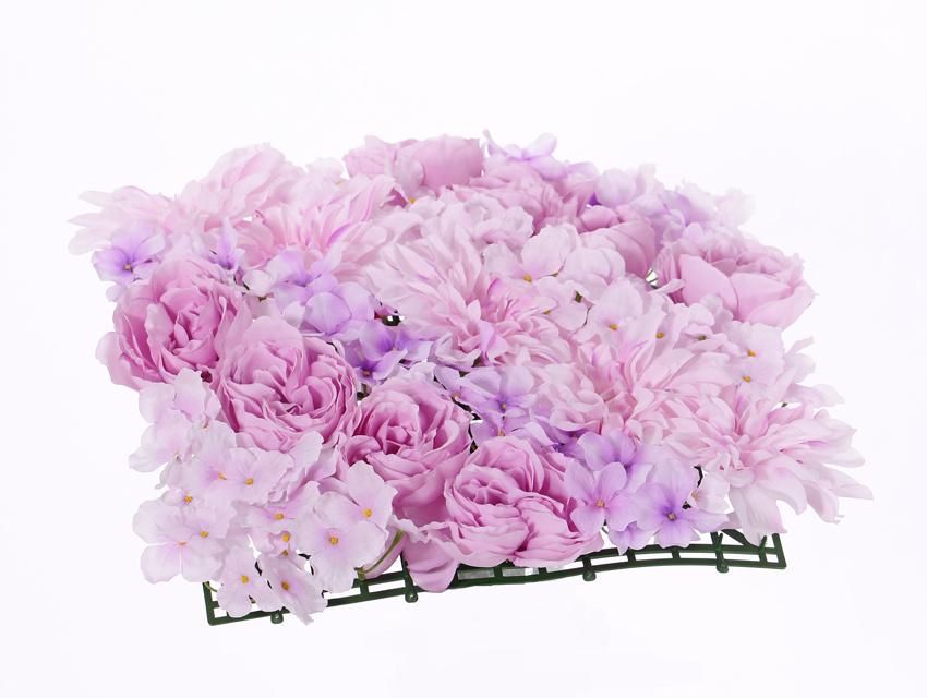 Mixed Flower Mat, Dahlia, Peony, Hydrangea (mat base 33 x 33cm)
