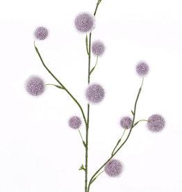 Alliumzweig (polystyreen) 'SummerBreeze' 3 Verzweigungen,  12 Kugeln, (Ø 2,5 - 4cm),  80cm