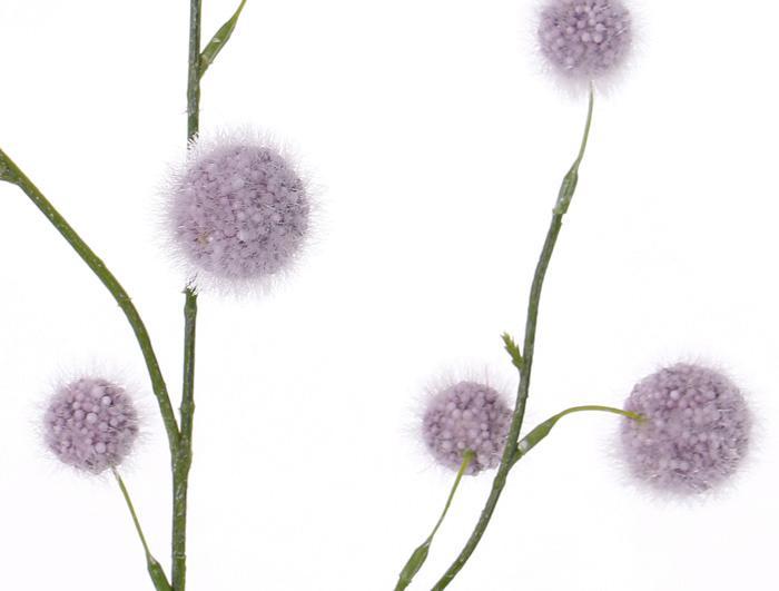 Allium branch (polystyreen) 'SummerBreeze' with 12 balls,  (Ø 2,5 - 4cm),  80cm