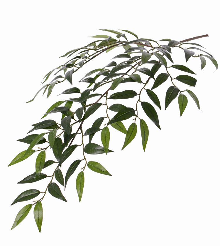 Smilax bladtak met 3 vertakkingen, 112 blad, 2tone groen, 72cm