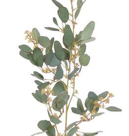 rama de Eucalyptus, 78 hojas, 55 capullos, 65cm - UV resistente
