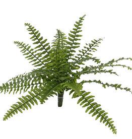 Helecho Boston (nephrolepsis), 21 hojas, 2 colores verdes,  Ø 50cm, UV resistente