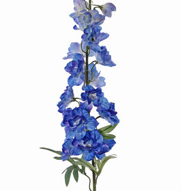 Delphinium (Ridderspoor) 'GardenArt', 18 bloem, 7 plastic knop, 3 blad, 91cm