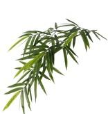Bambus-Blattzweig 'Royal', 80 Blätter, 4 Knospen, UV-sicher, 82cm