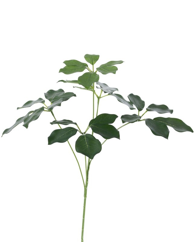 Schefflera (Vingerboom) bladtak, 5 vertakkingen, 28 bladeren, UVsafe, 50cm