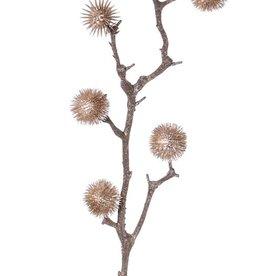 Cardo decoral x3, medium, 6 bolas  (Ø 4cm), 80cm