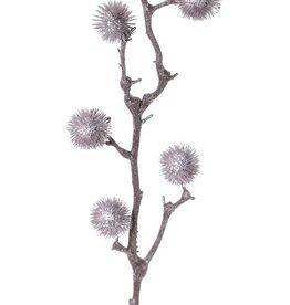 Thistle branch, medium, 6 balls (Ø 4cm), 80cm