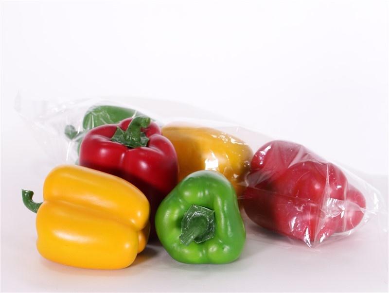 Paprika kleurmix, 3 stuks (in rechte polybag), per zak, 7x 7,5cm