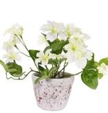 Petunia 16 Blumen, (4 groß / 8 mittel / 4 klein) & 12 Blätter, Ø 30cm