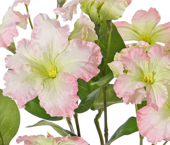 Petunien, 16 Blumen, (4 groß / 8 mittel / 4 klein) & 12 Blätter, Ø 30cm