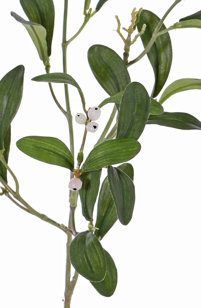 Mistletoe (Maretak) 4 vertakkingen, 12 bessen, 36 bladeren, 55 cm