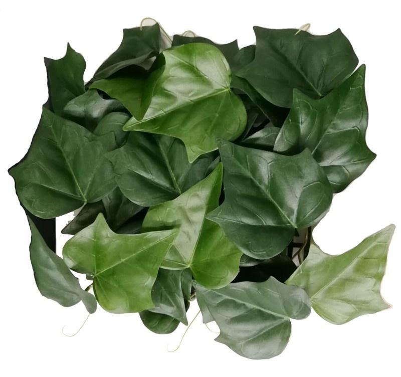 Hiedra gala cuadro, 2tipos verde, UV resistente, 25*25cm (poliéster)