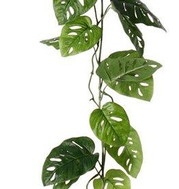 Monstera 'Monkey Leaf' (Gatenplant) slinger, 19 bladeren, 115cm