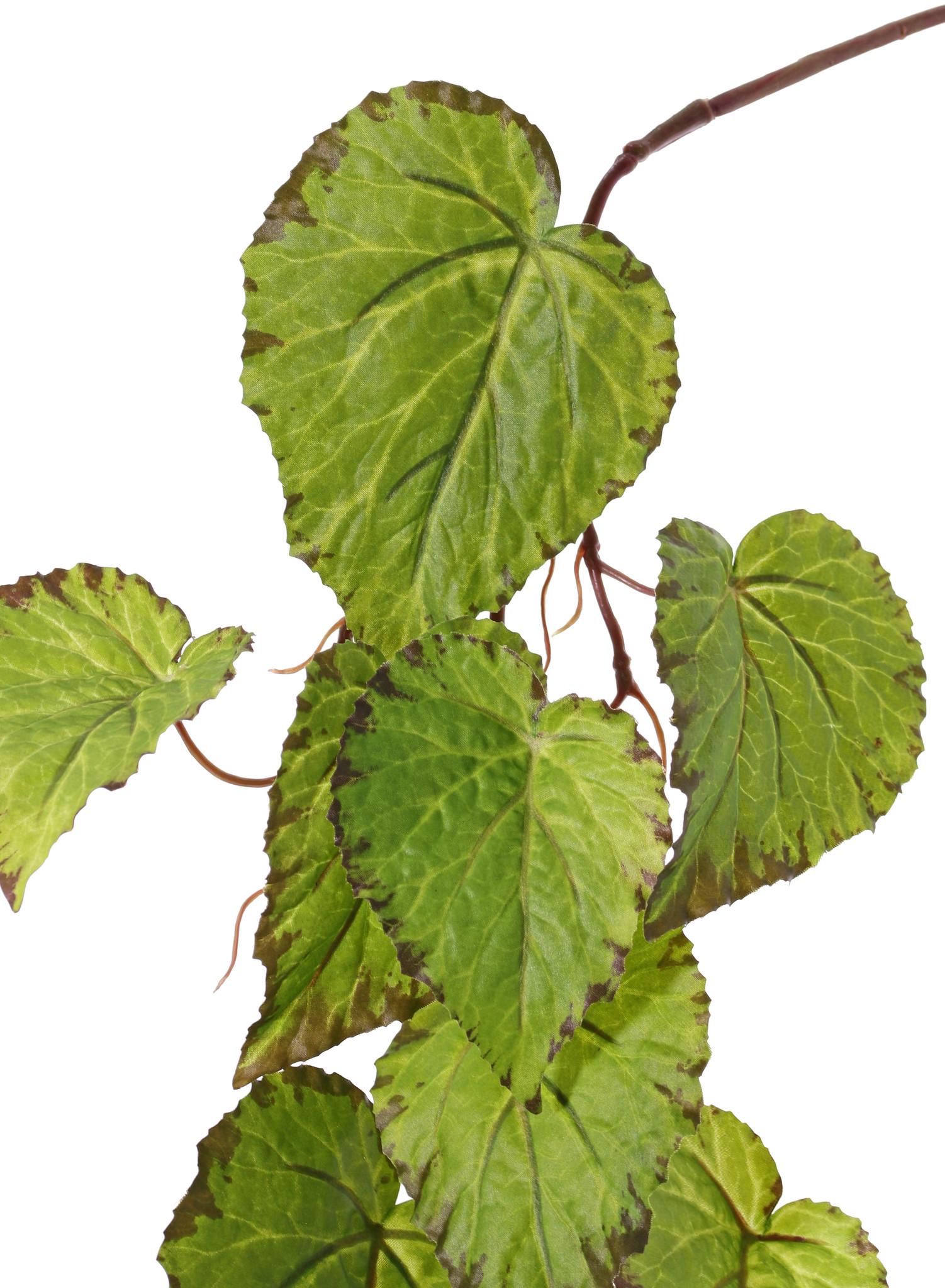Begonia-Girlande, 18 Blätter, 111cm