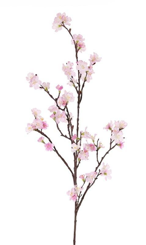 Sakura bloesemtak (Prunus jamasakura) 3 vertakkingen, 72 bloemen, 9 plastic knoppen, 96cm