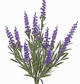Artificial lavender, 12 flowers, 42 lvs., fire retardant and UV safe, h. 35cm