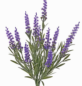 Lavendel (Lavandula), 12 Rispen & 42 Blätter, schwer entflammbar und UV sicher, H.35cm