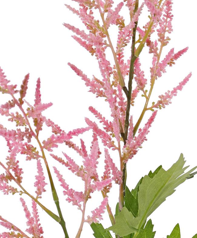 Astilbe (Pluimspirea), 2 bloempluimen (35cm/25cm) & 9 blad (3 sets), 90cm