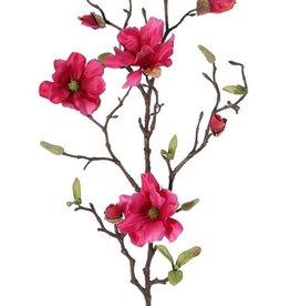 Rama de magnolia con  75cm 4 flowers (Ø 7- 8 cm)