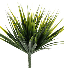 Arbusto de hierba, 126 hojas, resistente a los rayos UV, 30 cm (incluido el tallo)