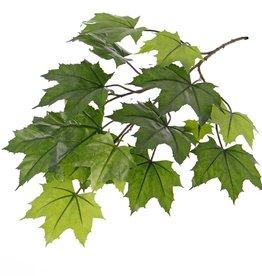 Esdoorn bladtak (Acer pseudoplatanus),5 vertakkingen, 16 blad, bruine steel, UV bestendig, 72cm