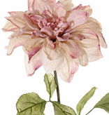 Dahlia, 1 flower Ø 17cm & 9 leaves, 68cm