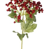 Berry spray short, Ø 8cm, foam berries, with 4 leaves, 38cm