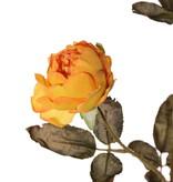 Rosenzweig Edith, 4 Blumen (2x Ø 8cm, 2x Ø 5cm) & 3 Knospen, 26 Blätter, 76cm