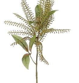 Rama de Pieris con 1 grupo de plástico Ø 20cm & 6 hojas, 62cm