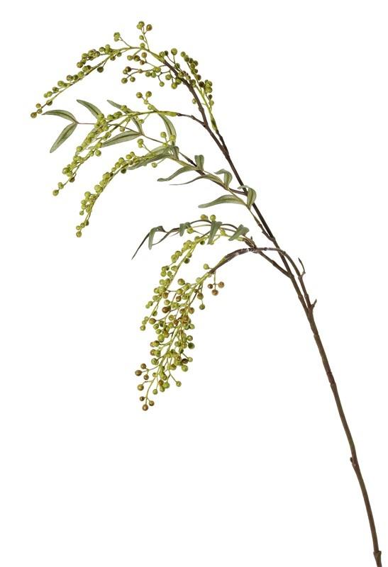 Beerenzweig hängend, 2 Verzweigungen, 7 Plastikbündel, (14cm), 24 Blätter, 83cm