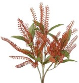 Plastic Pieris spray, 3 clusters & 15 leaves, 40cm