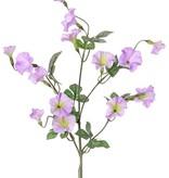 Winde (Convolvulus) x4, 15 bloemen (10 lg /5 sm) & 14 blad, 63 cm