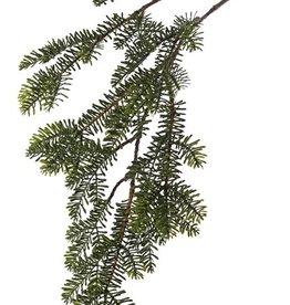Rama de Abeto x6, hojas en forma de agujas planas, 83cm
