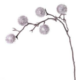 Thistle branch large  x2, 5 balls (Ø 6cm), 100cm