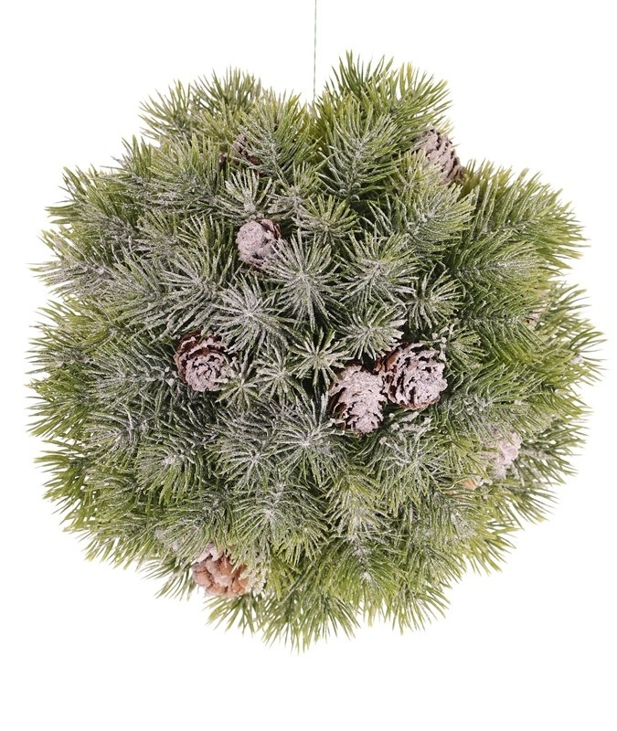 Pine ball, x188 tips, with snow, Ø20CM